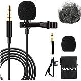 WIAR Microfono para Celular Smartphone YouTube Iphone Cámara Profesional Canon Nikon Sony reflex Pc Android Tablet…