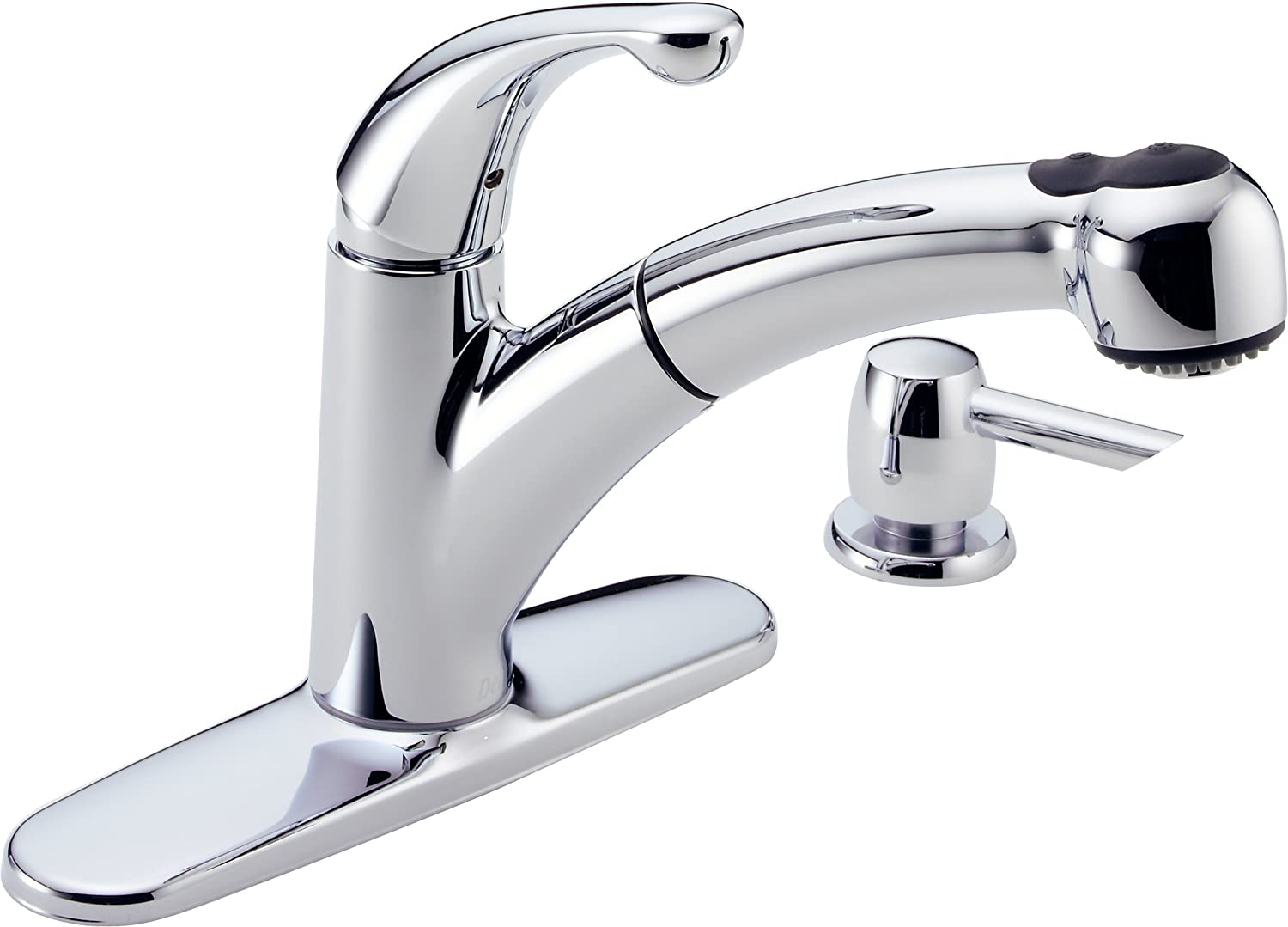 Delta 467-SD-DST Palo Single Handle Pull-Out Kitchen Faucet with ...