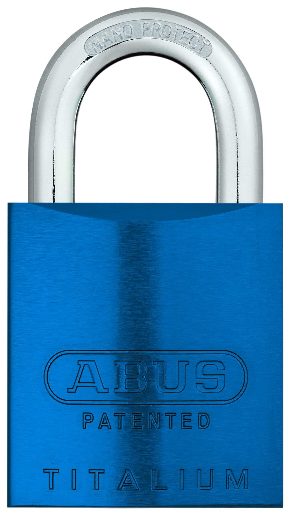 ABUS 83AL/45-200 Aluminum Padlock Blue Keyed Different