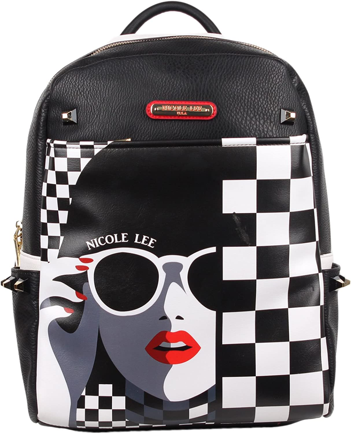 Nicole Lee Women s Adeen Smart Lunch Backpack Vol. 2 Lady in Sunglasses