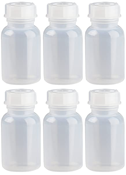 6 x 100 ml cuello ancho botella/botella de color scienova de LDPE con tapón