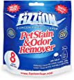 Pet Stain and Odor Eliminator by Fizzion - Removes Pet Urine and Feces Safely With The Professional Cleaning Power of CO2 (8 Tablets) Makes 8 Bottles