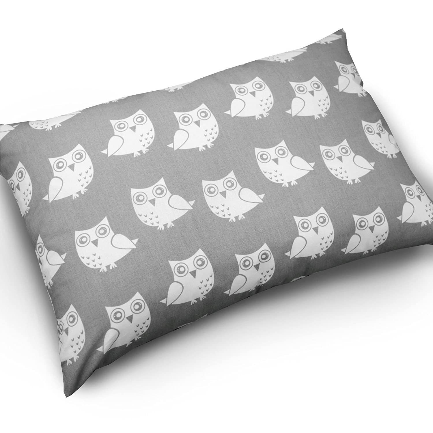 BABY PILLOW CUSHION KIDS 60x40cm BACK SUPPORT DECORATIVE ANTI-ALLERGENIC (Pillow case ONLY, Fox grey) Babymam