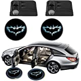 Science Purchase Black Wireless Car Door LED Projector Light (2x Night Cold Blue bat batman car door courtesy welcome logo shadow ghost light laser projector)