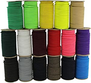 SGT KNOTS Marine Grade Shock Cord - 100% Stretch, Dacron Polyester Bungee for DIY Projects, Tie Downs, Commercial Uses (1/4