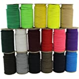 SGT KNOTS Marine Grade Shock Cord - 100% Stretch, Dacron Polyester Bungee for DIY Projects, Tie Downs, Commercial Uses…