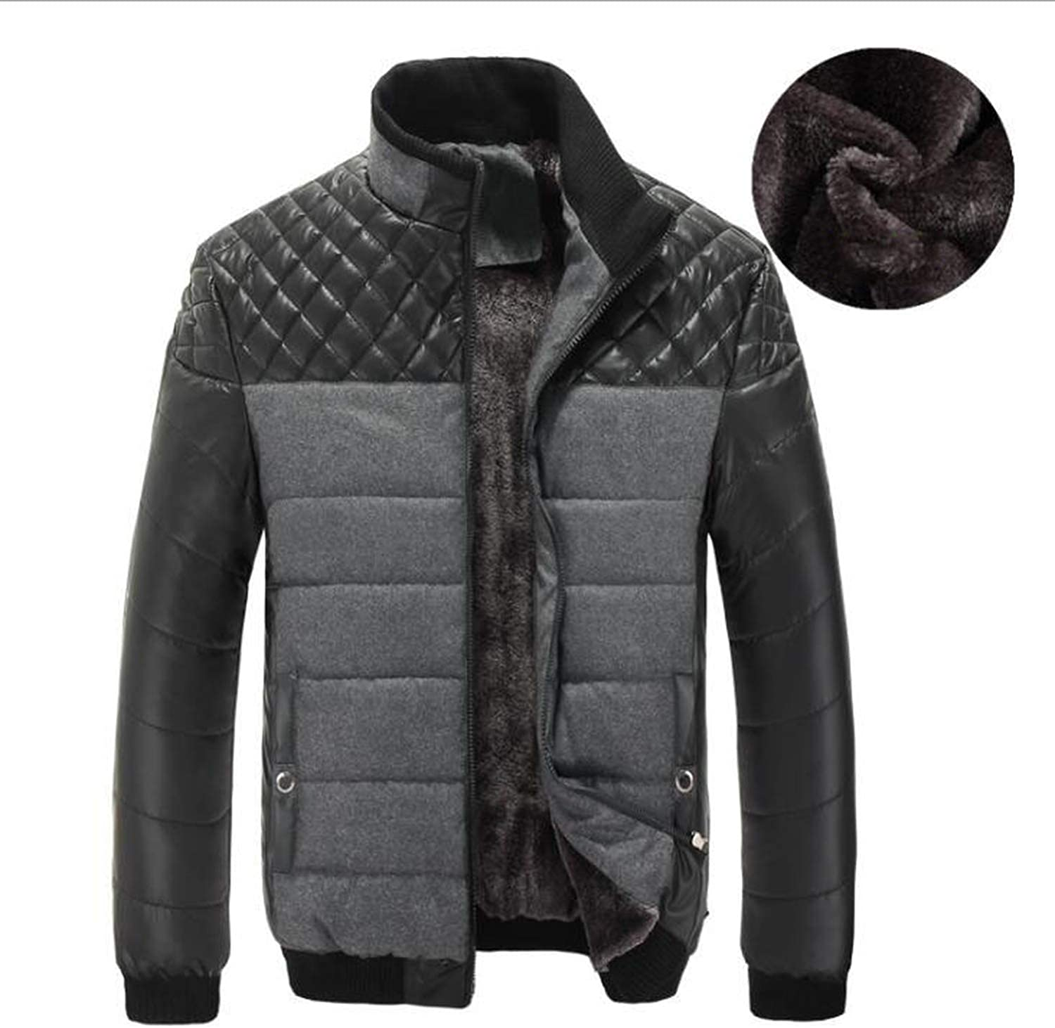 Little Adam Fashion coat Winter Men Cotton-Padded Jackets Mens Casual Jackets Thicken Coats Overcoat Warm Clothing