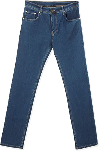 black moustache Denim Jeans For Men, Size 30 EU, Color Blue