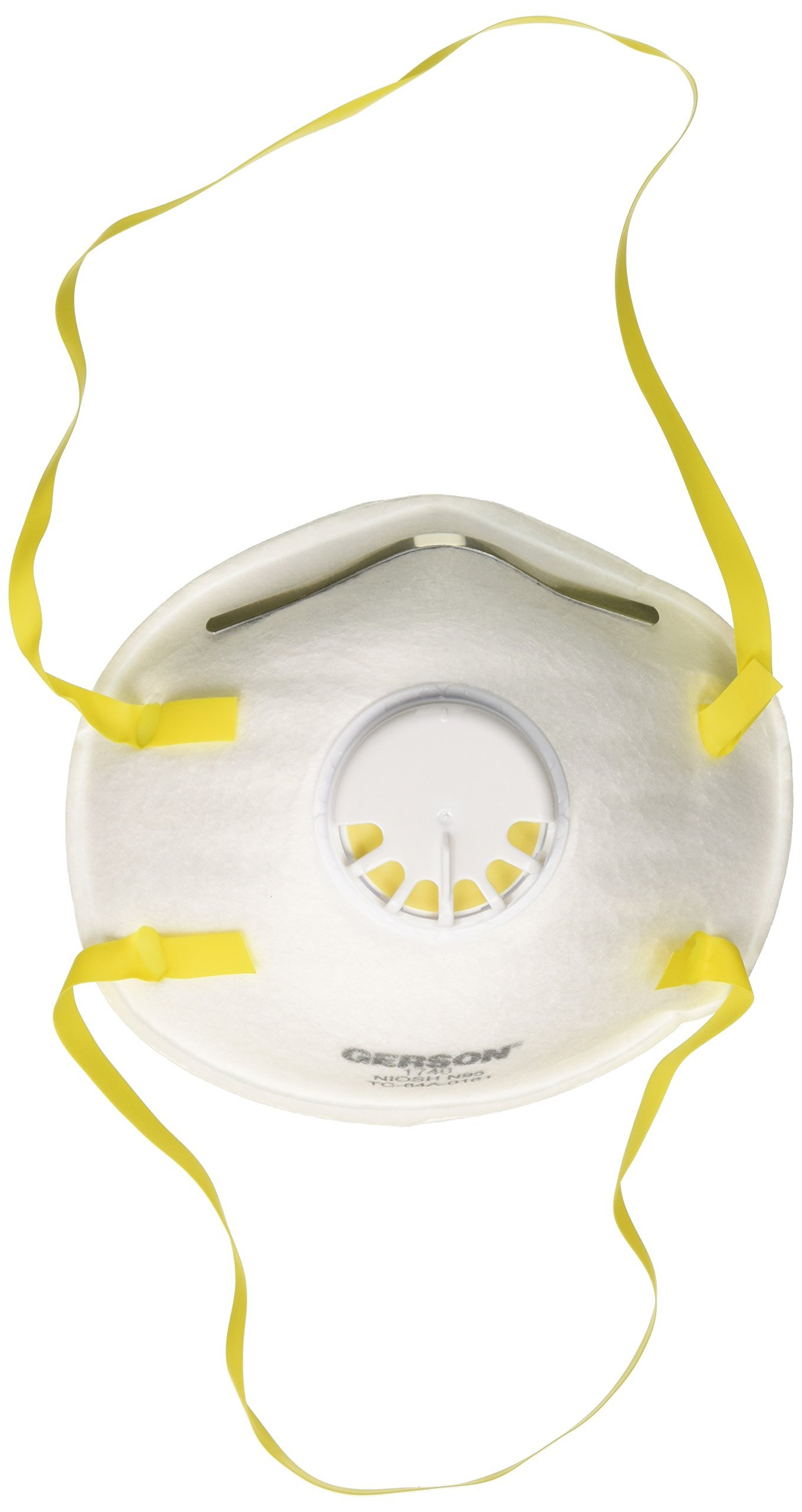 Gerson N95 Respirators with Exhalation Valve, Pack of 10, White