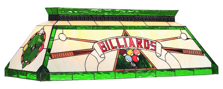 44In. Tiffany Billiard Light-Green