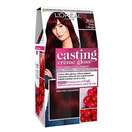 Loréal Paris Colorazione Capelli Casting Crème Gloss Tinta Colore Senza Ammoniaca Fragranza Piacevole 360 Nero Ciliegia