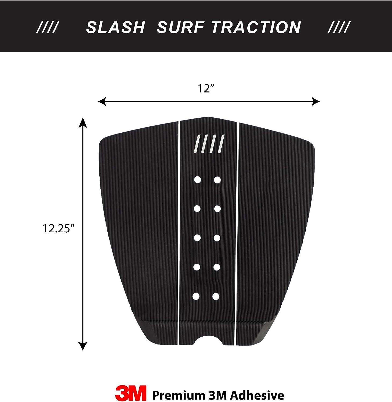 Fish Boards Long Deck Slash Surfboard Traction Pads /• 3 Piece Deck Grips for Surfboard Skimboard Wakesurf Skim Board Longboard Deck /• Maximum Grip Stomp Pad /• 3M Adhesive /• Fits Surf