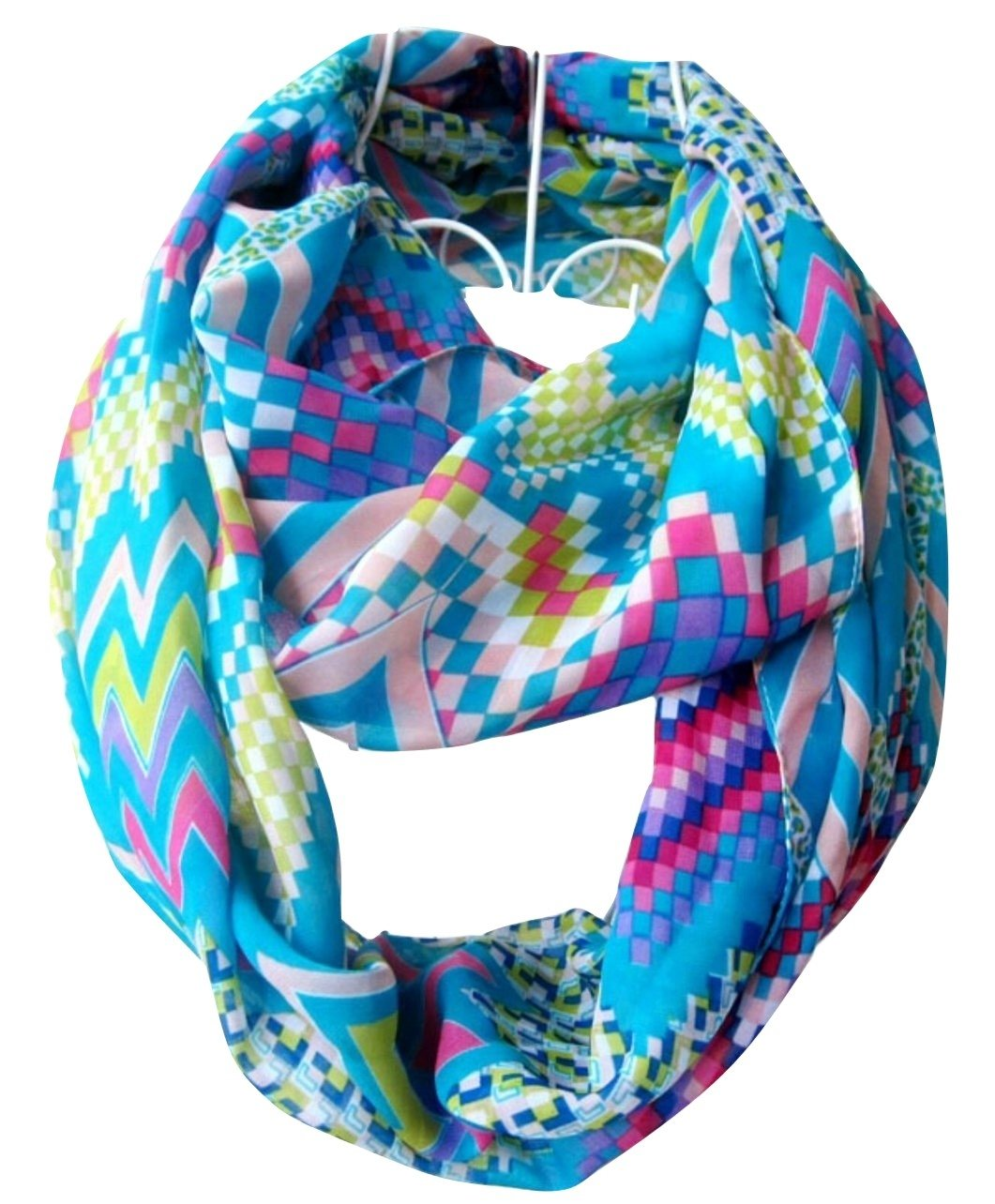 Tapp C. Multicolor Rose Print Infinity Scarf - Red/Black