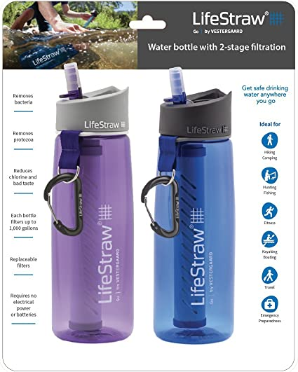 activated carbon capsules reduce chlorine for LifeStraw Go 2-stage /& LifeStraw Steel ideal for camping backpacking travelling 2 pack Replacement Carbon Capsules hiking bad taste odor and organic chemical matter