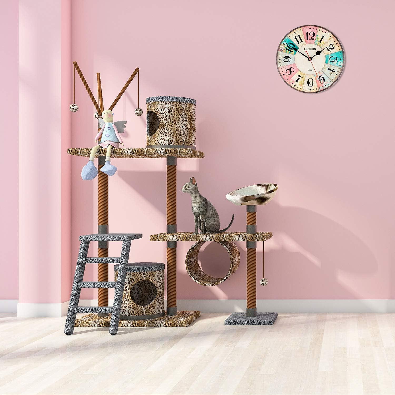 Art Beauty Round Wall Clock Decorative//Vintage Style Rose, 12