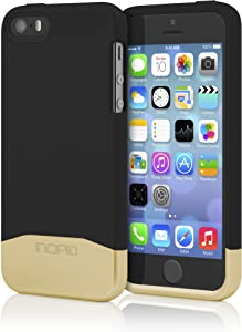 Incipio Edge Chrome Case for iPhone 5/5s - Retail Packaging - Black with Chrome Gold