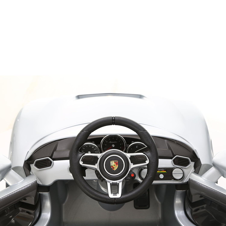 6-Volt-Akku Bis max Schwarz Rollplay Elektrofahrzeug mit Fernsteuerung und R/ückw/ärtsgang 35 kg Bis zu 4 km//h Porsche 918 Spyder F/ür Kinder ab 3 Jahren