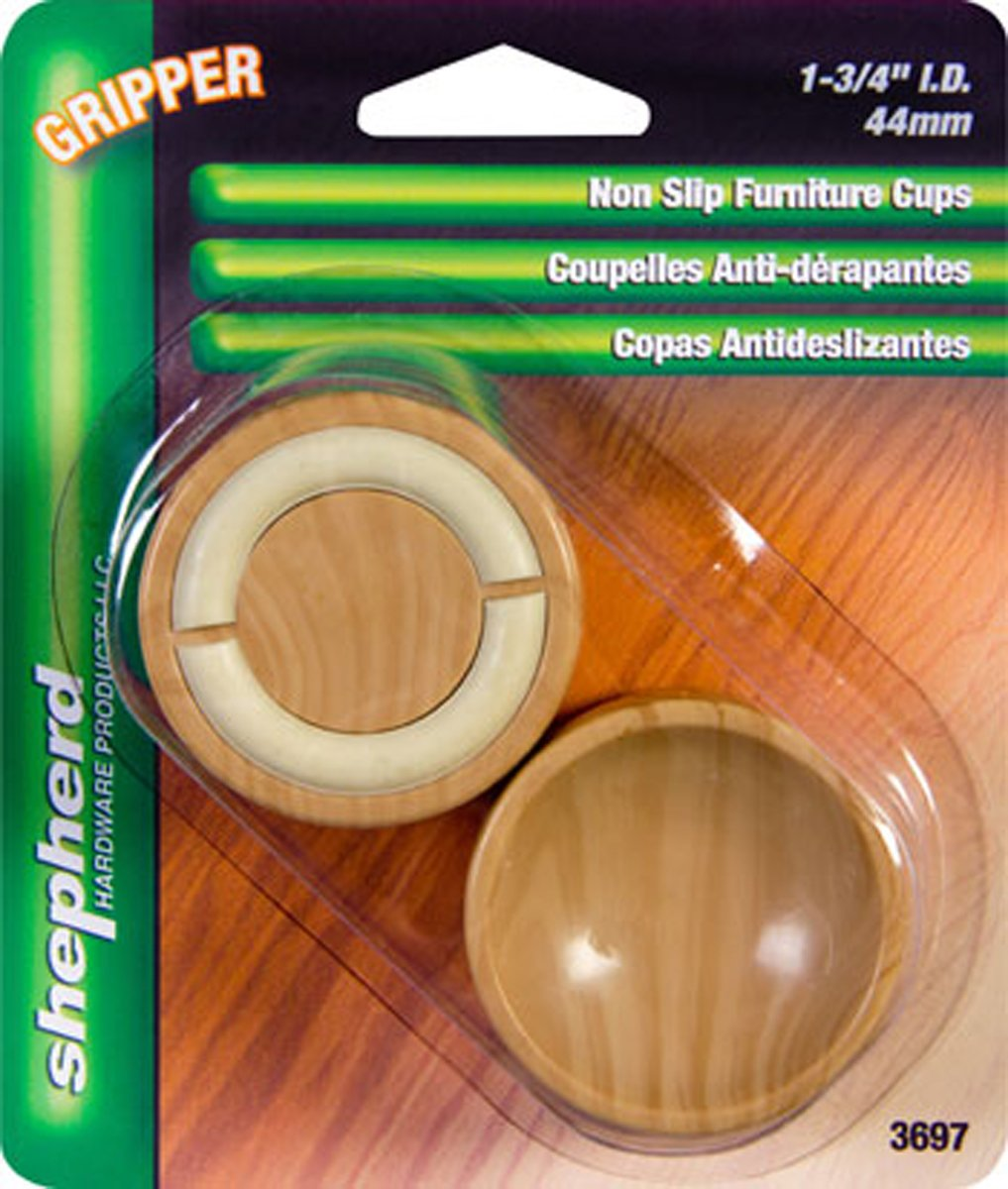 Shepherd Hardware 3697 1-3/4-Inch Non-Slip Furniture Cups, 4-Pack