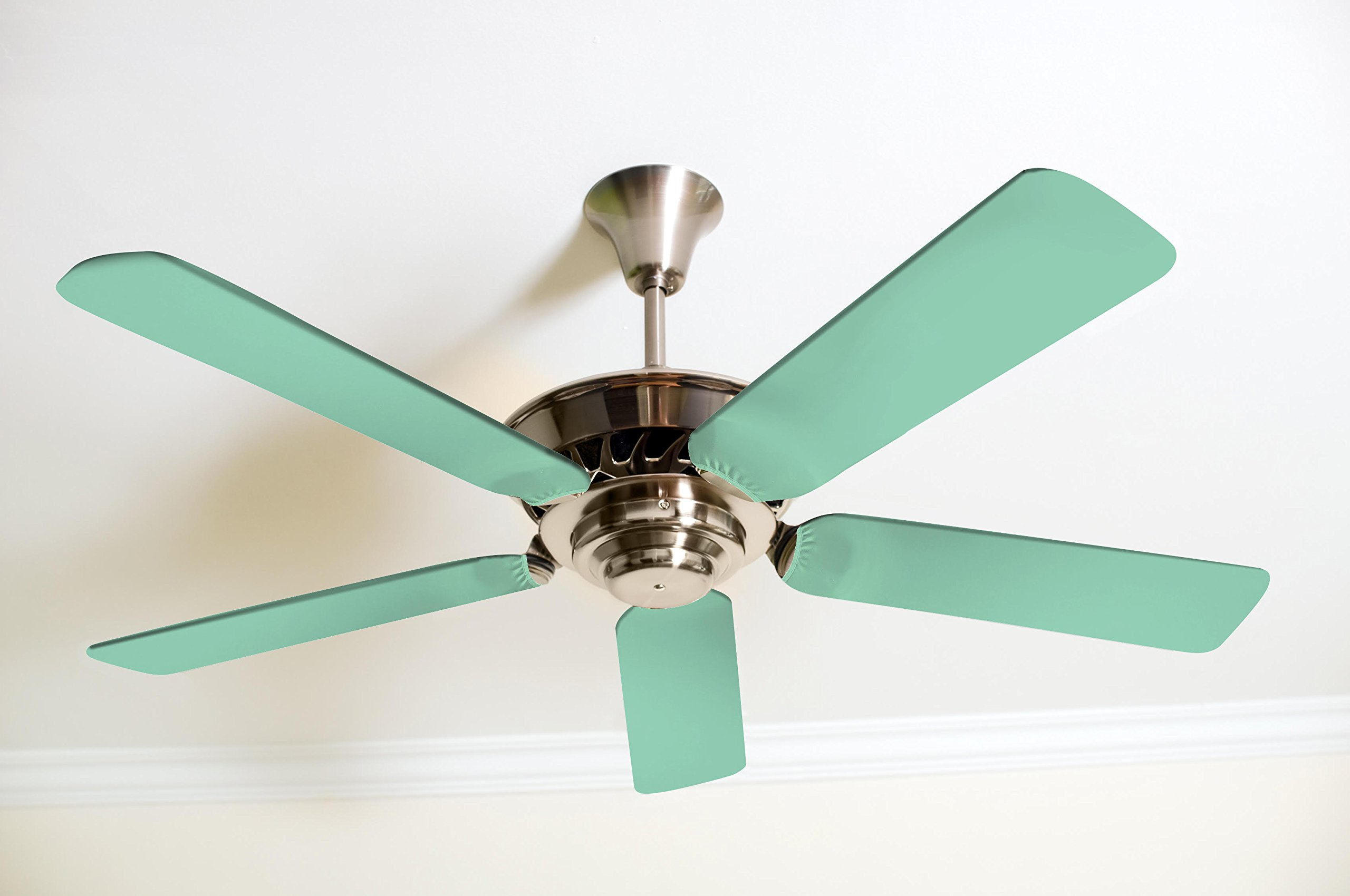 Fancy Blade Ceiling Fan Accessories Blade Cover Decoration, Mint Green