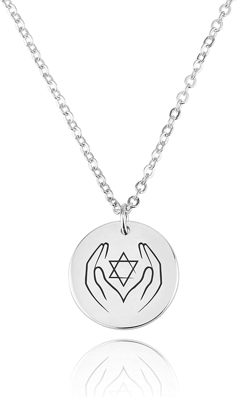 I Support Israel Necklace Israeli Jewelry Gift For Bat Mitzvah Hebrew Magen David Charm Israel Judaica Pendant