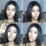 Straight Short Hair Human Lace Wigs Lace Front Wig