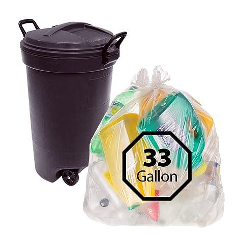 Amazon.com: Bolsas de basura 33 Galón – 100 Count por ...