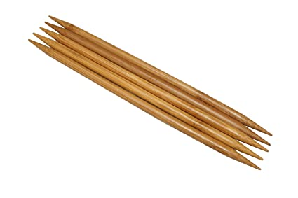 """Bamboo Double Pointed Knitting Needles Sock DPN 20cm//8/"""" long   set of 5"""