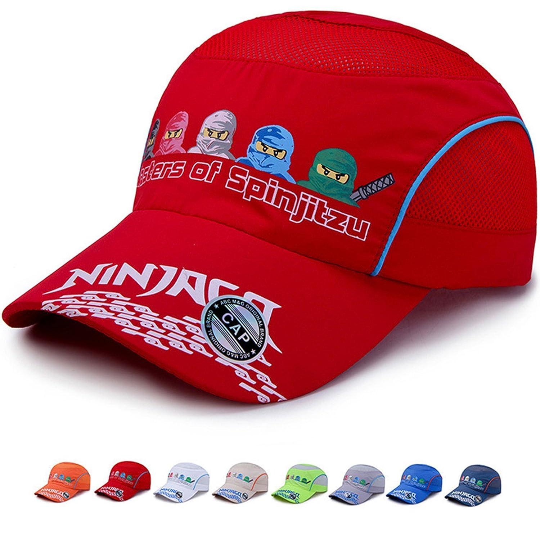 IZUS Kids Baseball Hat Quick Dry Ninja   Air Mesh Cap UV Protection Sport Hat