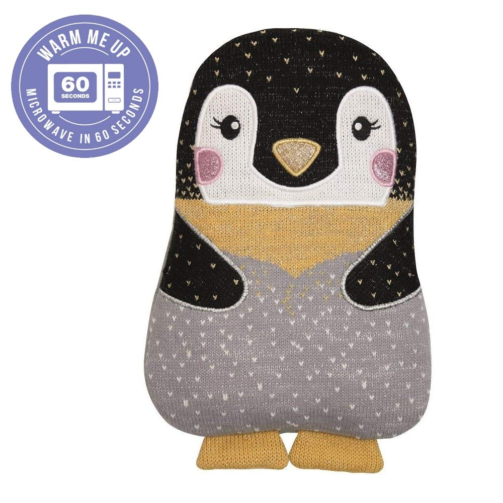 Aroma Home Knitted Hottie Microwavable Penguin Heatable Hot Water Bottle by Aroma Home