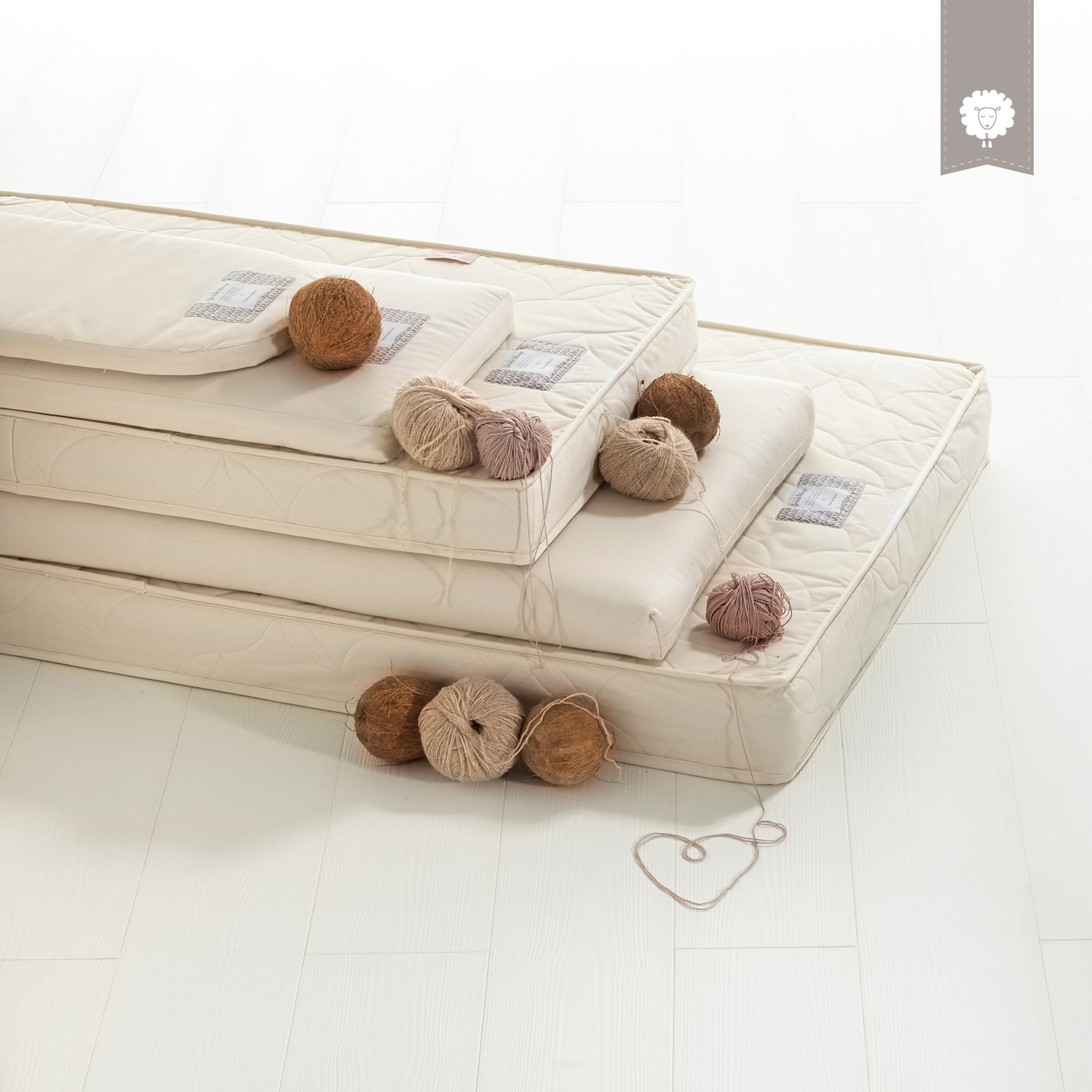 The Little Green Sheep Natural colchón de capazo para Joolz Geo: Amazon.es: Bebé