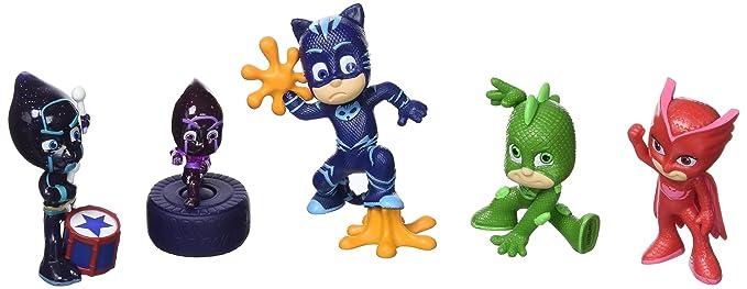 JP PJ Masks PJMasks - Figuras coleccionables (5 unidades): Amazon.es: Juguetes y juegos