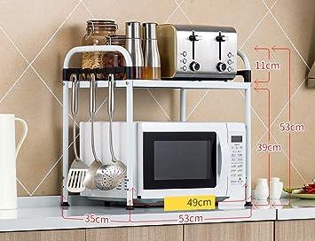 Küchenwagen edelstahl  HWF Küchenwagen Edelstahl Küche Regal Mikrowelle Ofen Rack Gewürz ...