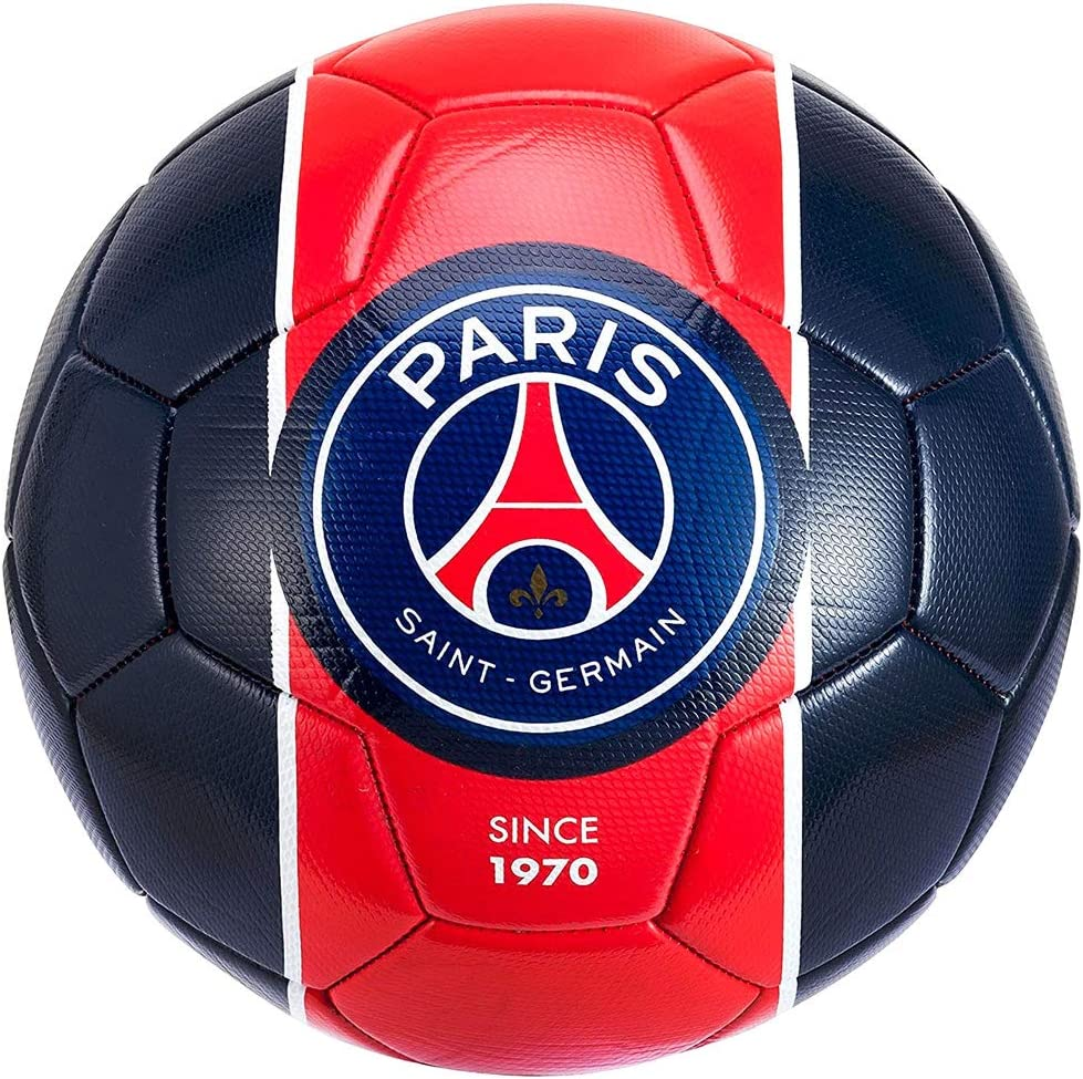 Amazon Com Psg Official Paris Saint Germain Mini Soccer Ball Blue Red Sports Outdoors