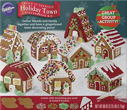 Amazon wilton build it yourself holiday town gingerbread house wilton build it yourself holiday town gingerbread house decorating kit solutioingenieria Gallery