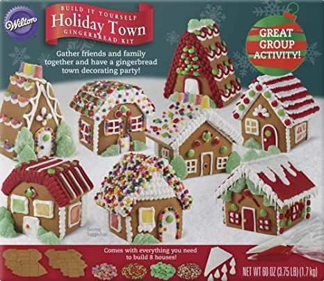 Amazon wilton build it yourself holiday town gingerbread house wilton build it yourself holiday town gingerbread house decorating kit solutioingenieria Image collections
