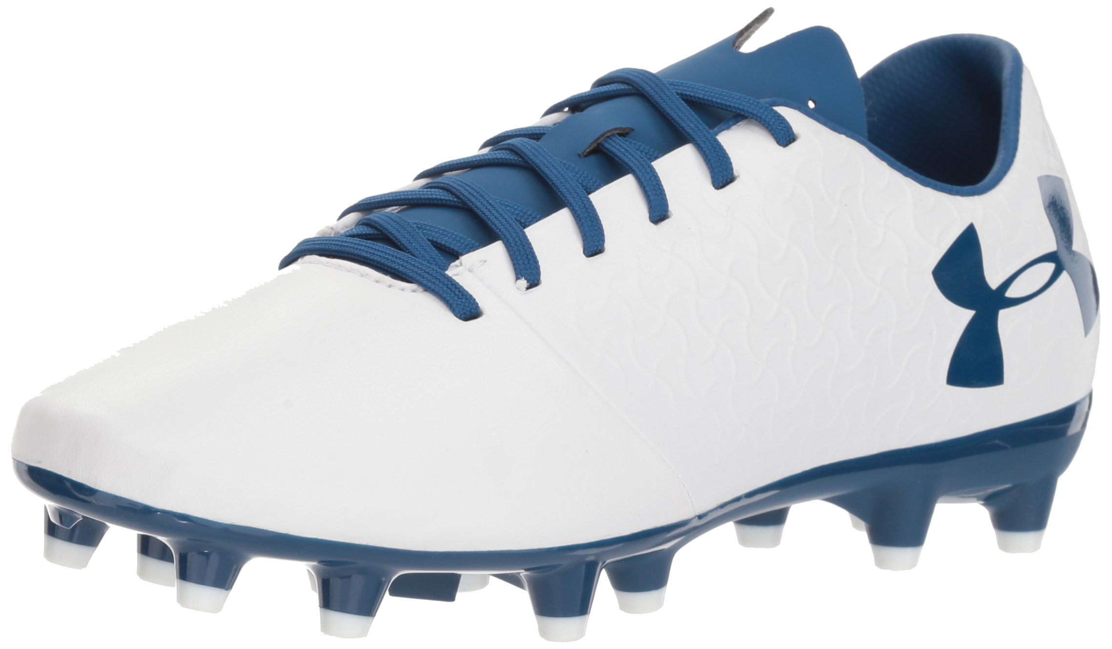 Under Armour Women's Magnetico Select FG Soccer Shoe, White (100)/Moroccan Blue, 7.5