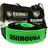 "Rhino USA Recovery Tow Strap 3"" x 30ft - Lab Tested 31,518lb Break Strength - Heavy Duty Draw String Included - Triple…"