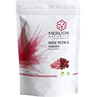 Rose Petals Powder by MERLION NATURALS (Rosa Centifolia) | All Natural I For Facial Mask Formulations (227 gm)
