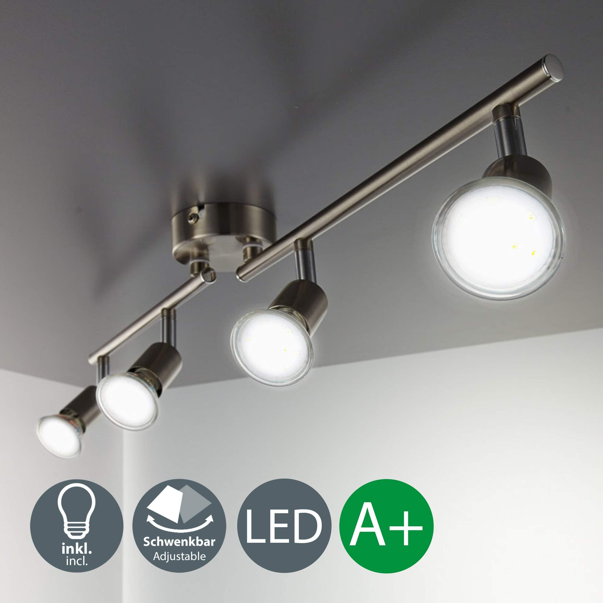 B.K.Licht Foco LED para techo I Lámpara de techo con focos redondos I incl.