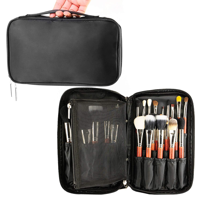 MONSTINA Professional Makeup Brush Organizer Cosmetic Case/Bag Makeup Handbag for Travel & Home Gift(Black)