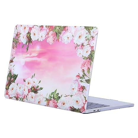 MOSISO Funda Dura Compatible 2018 2017 2016 MacBook Pro 13 con/sin Touch Bar A1989 A1706 A1708 USB-C, Carcasa Rígida Protector de Patrón de Plástico ...
