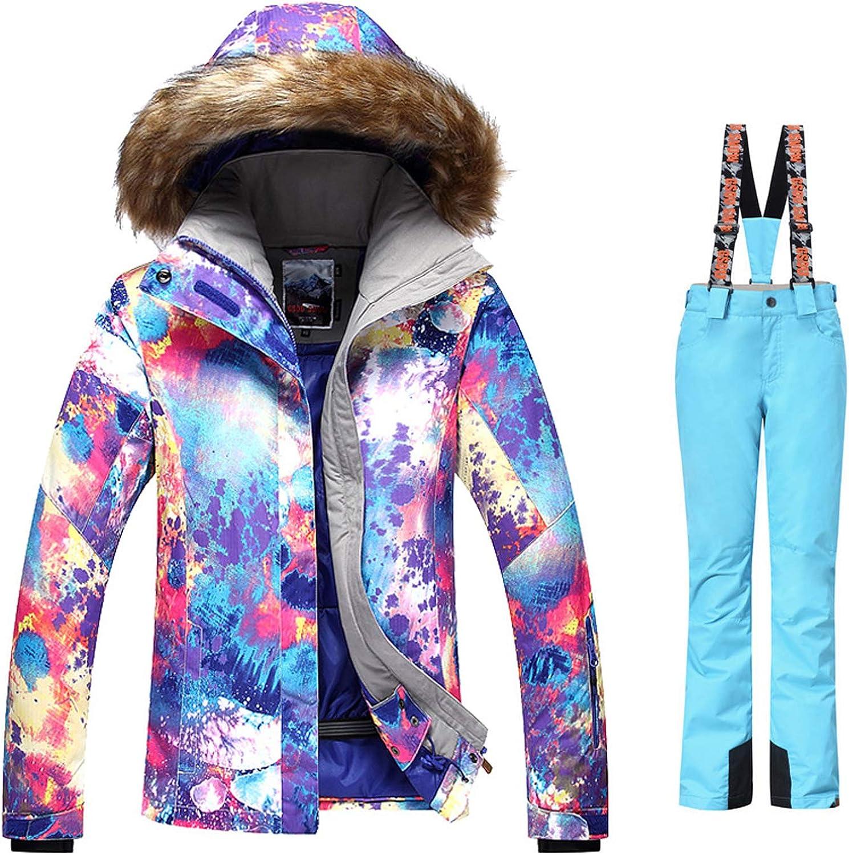 Toogou GSOU SNOW Women's pink ski suit female pink violet