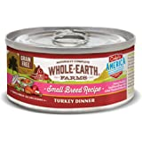 Whole Earth Farms Small Breed Grain Free Wet Dog Food, Turkey Dinner  (24)  3 oz Cans
