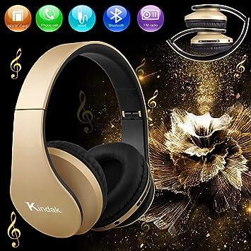 Bluetooth Auriculares Inalámbricos,Plegable Auriculares de Diadema Over Ear con Micrófono Libres Manos FM Cascos,Wireless Headset Cerrados para Mujer Niña ...