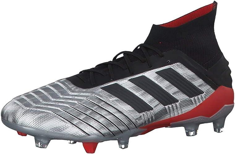 adidas Predator 19.1 FG, Scarpe da Calcio, Silver Metallic