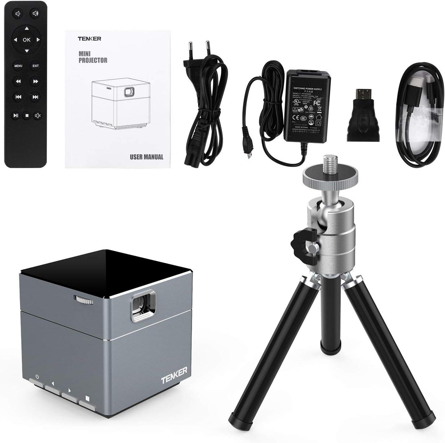 tenker Mini cubo DLP proyector con WiFi, LED de bolsillo Pico ...