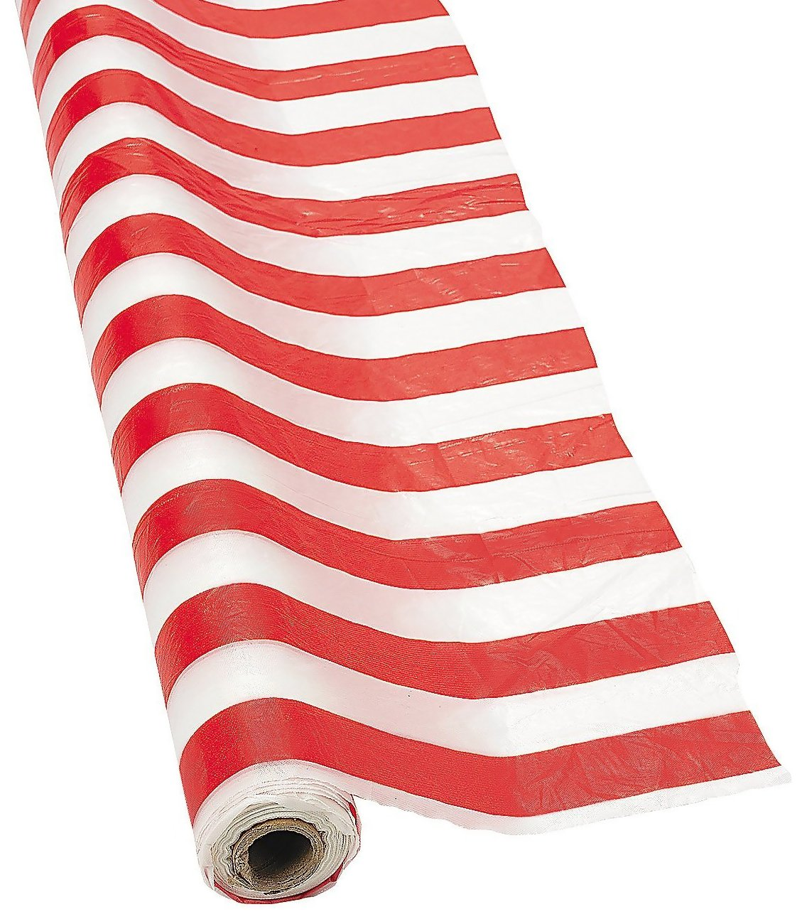Fun Express SYNCHKG028647 Red and White Striped Tablecloth Roll by Fun Express