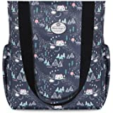 HUA ANGEL Floral Casual Shoulder Bag- Daily Tote Bag Gym Travel Shopping Tote Work Bag for Women