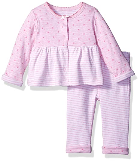 9677e68fe8d Sterling Baby by Vitamins Baby Girls' Flounce 2 Piece Pant Set,  Stars/Stripes