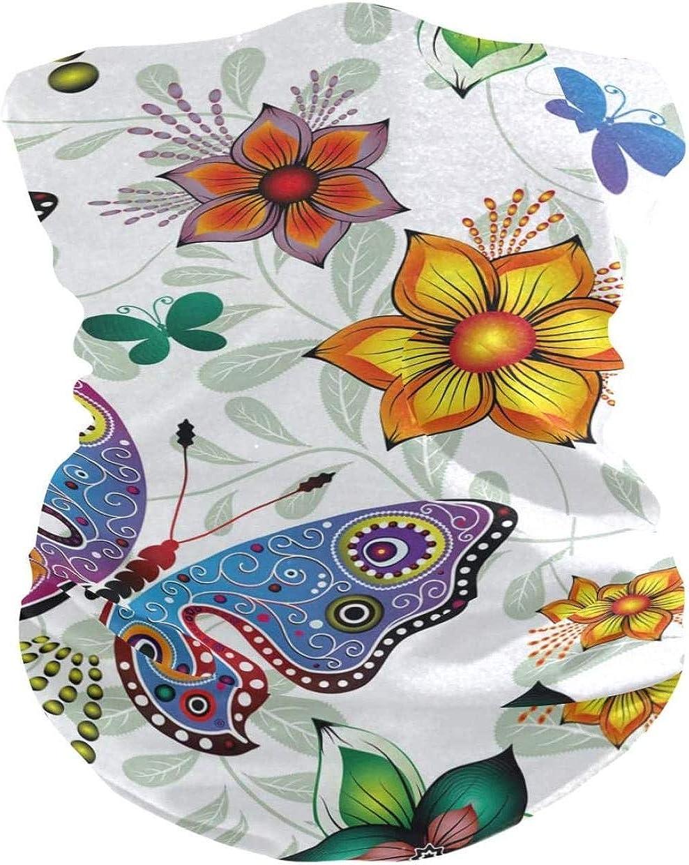 Bandana For Women Butterfly Seamless Balaclava Half Headwear Neck Gaiter Bandanas Head Windproof Sport Scarf